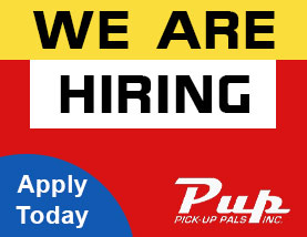 Pickup Pals is hiring employees currently.